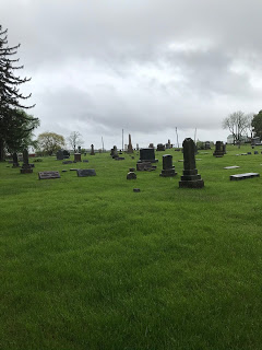 tombstones at blood's point cemetery boone county illinois